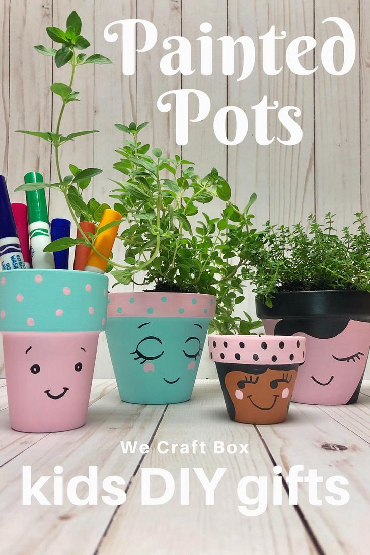 Painted Pots – Kids DIY – Perfect Handmade Gift